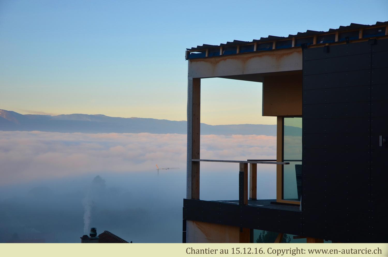 15.12.16 Lever de soleil au-dessus du brouillard. La seul journée ensoleillée du mois de décembre!