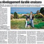 """Article de presse: """"Du développement durable """"maison"""". LaLiberté - 29.09.15."""