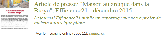 Article Efficience21 - médias pt