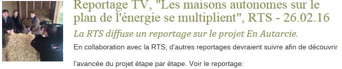 Reportage RTS - médias pt