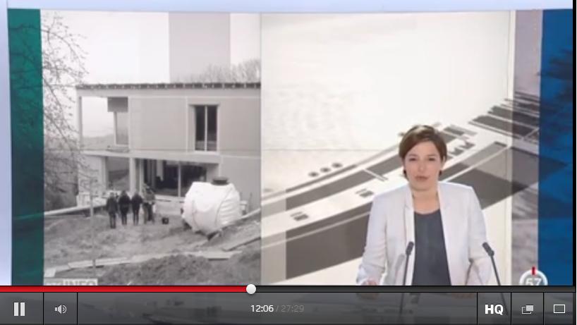 Reportage tv une maison autarcique est en construction Reportage construction maison