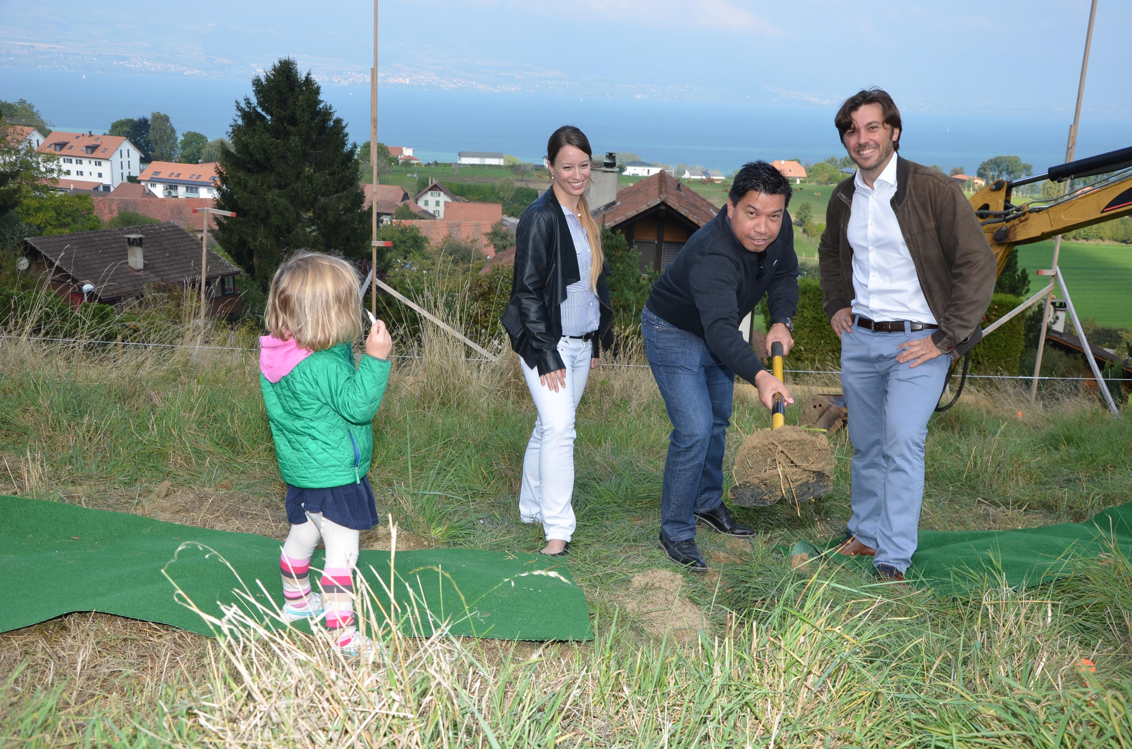 De gauche à droite: Alix, Corinne Décosterd, Jean-Louis Guillet, Marc Muller