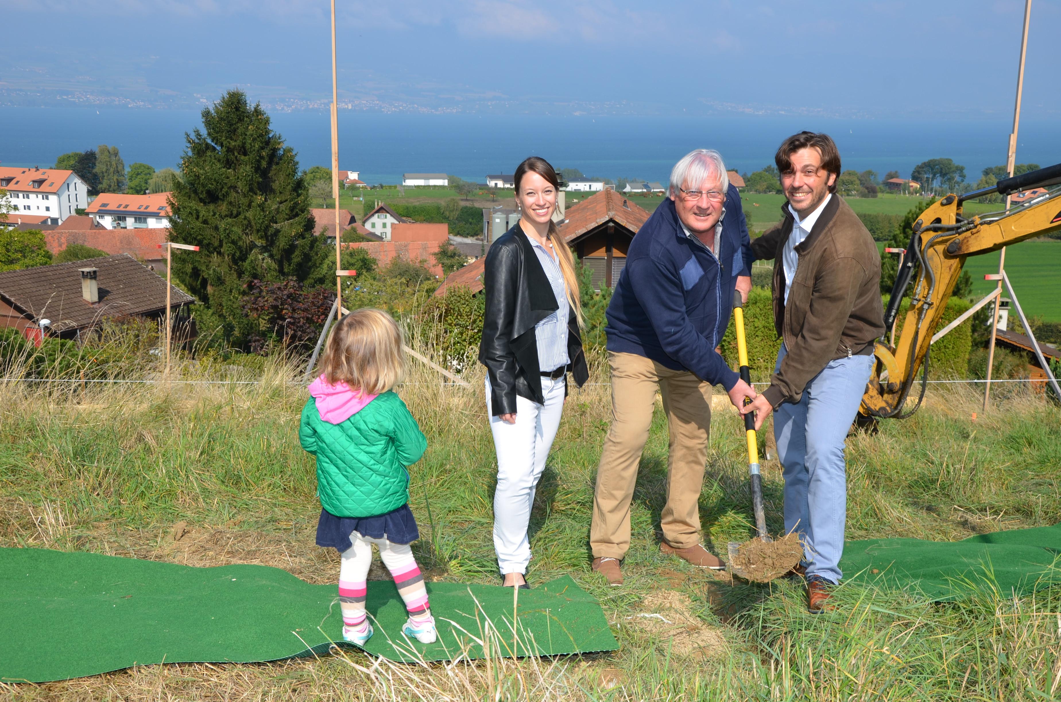 De gauche à droite: Alix, Corinne Décosterd, Claude Droz, Marc Muller
