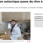 """Article de presse: """"La maison autarcique passe du rêve à la réalité"""", 24 heures 10.01.17"""